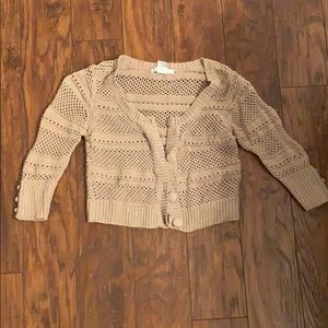 Short Cardigan with Gold accents